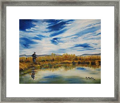 Wishing I Was Fishing Framed Print