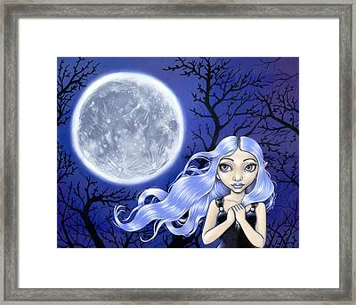 Wishing On The Moon Framed Print by Lindsey Cormier
