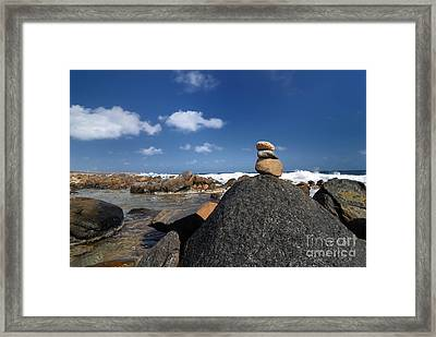 Wishing Rocks Aruba Framed Print by Amy Cicconi