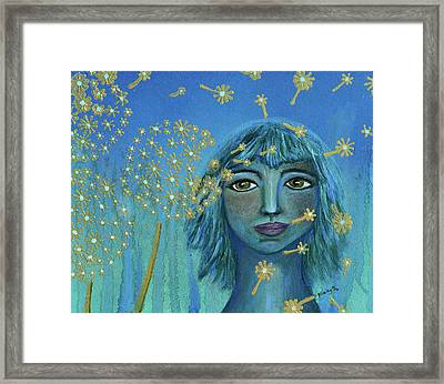 Wishing The Blues Away Framed Print by Donna Blackhall