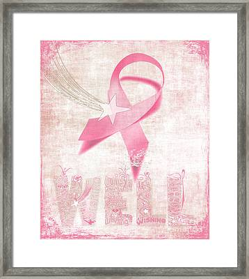 Wishing Well Breast Cancer Framed Print by Laura Brightwood