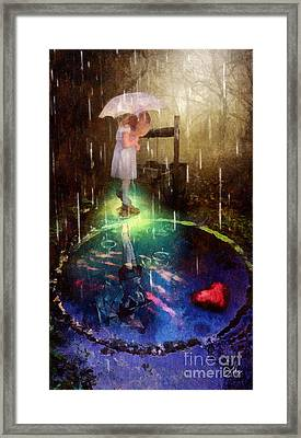 Wishing Well Framed Print by Mo T