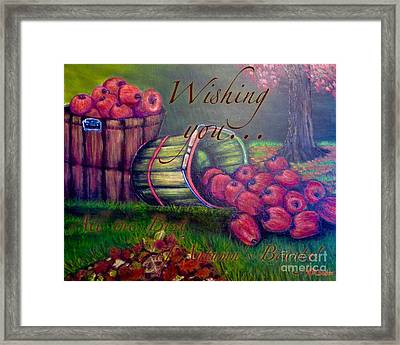 Wishing You All The Best Of Autumn's Bounty Framed Print by Kimberlee Baxter