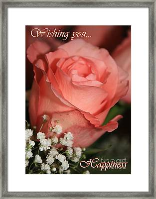 Wishing You Happiness Card Framed Print by Carol Groenen
