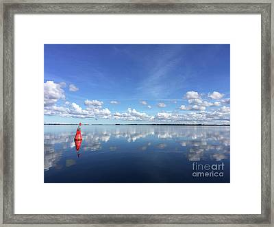 Wismar Bay In Fall Framed Print