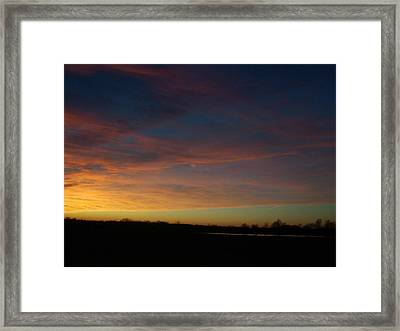 Wisp Of Color Framed Print