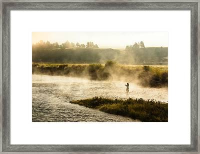 Wisps Of Fog Framed Print by Todd Klassy