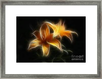 Wispy Lilies Framed Print by Teresa Zieba