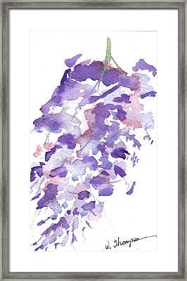 Wisteria Beauty Framed Print by Warren Thompson