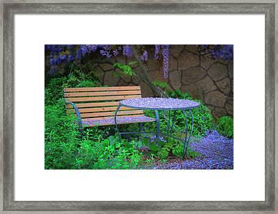 Wisteria Garden II Framed Print