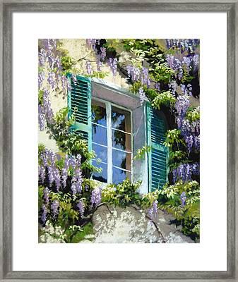 Wisteria In Provence Framed Print