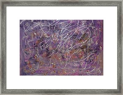 Wisteria Painting  Framed Print by Don  Wright