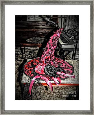 Witch Hat And Music Framed Print