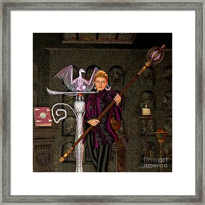 Witch Ritual Framed Print by Corey Ford