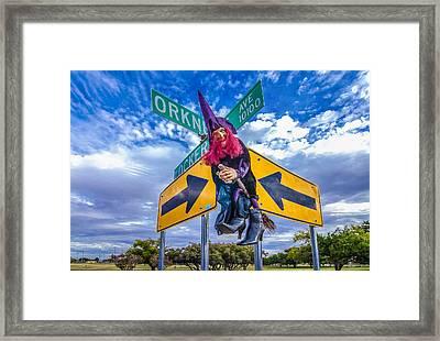 Witch Way? Framed Print by Ken Blystone