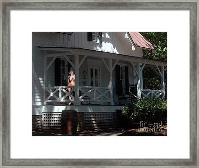 Witch With The Golden Mask Framed Print by Broken Soldier