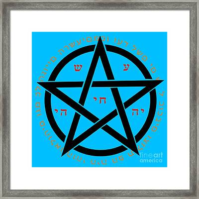 Witchcraft Concept  Framed Print by Ilan Rosen