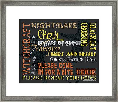 Witchcraft Typography Framed Print