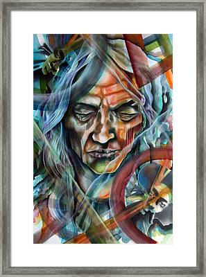 Witchdoctor Framed Print by Robert  Nelson
