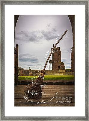 Witches Broom Framed Print by Amanda Elwell