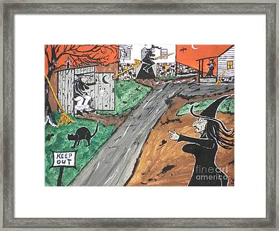 Witches Outhouse Framed Print