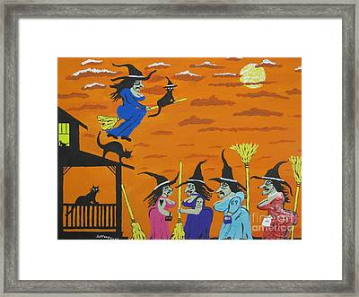 Witches Prom Night Framed Print