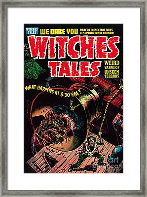 Witches Tales Comic Book Cover Framed Print
