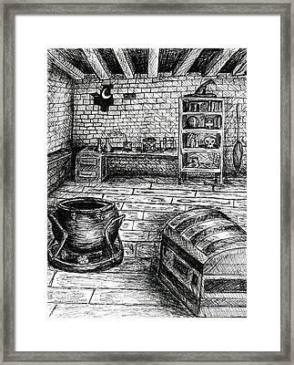 Witch's Cabin Framed Print