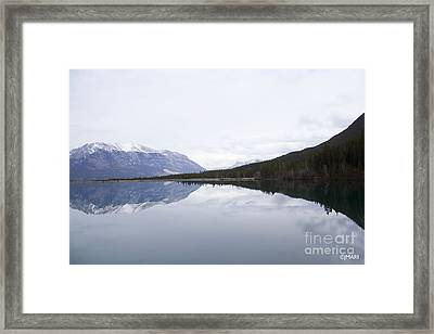 With A Clear Conscience Framed Print
