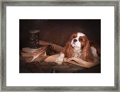 With A Dog... Framed Print