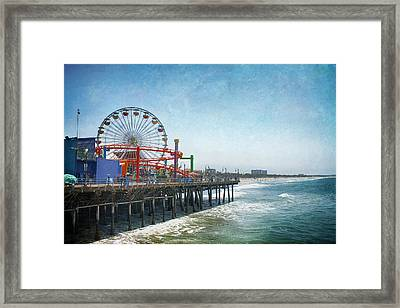 With A Smile On My Face Framed Print