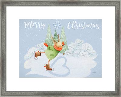 With All My Heart - Christmas Art Framed Print