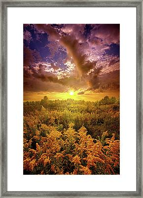 With All Your Heart And Soul Framed Print