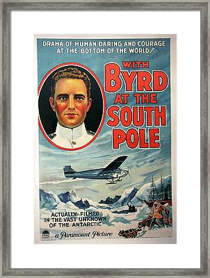 With Byrd At The South Pole 1930 Framed Print by Mountain Dreams