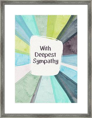 With Deepest Sympathy- Art By Linda Woods Framed Print