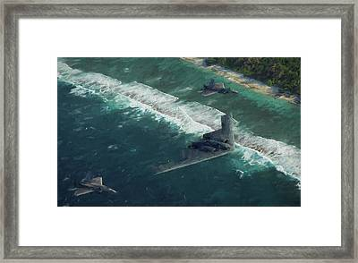 With Escort Framed Print by JC Findley