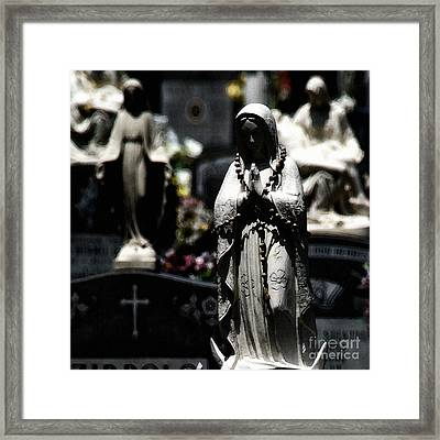 With Every Bead A Prayer Framed Print by Linda Shafer