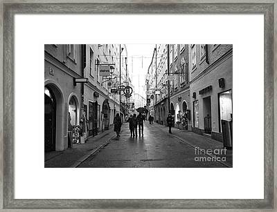With Friends In Salzburg Framed Print by John Rizzuto