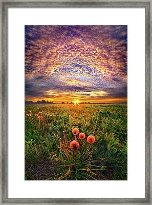 Framed Print featuring the photograph With Gratitude by Phil Koch