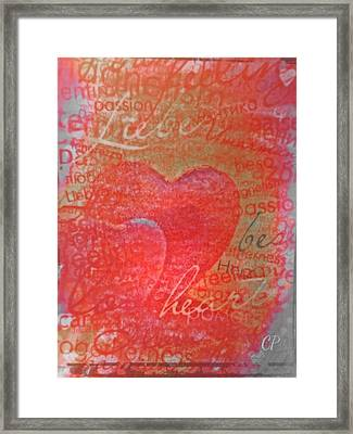 With Heart Framed Print