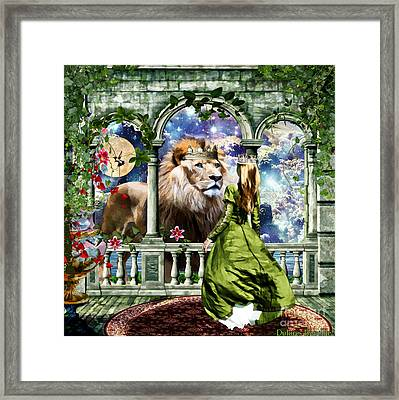 With Him I Speak Face To Face Framed Print by Dolores Develde