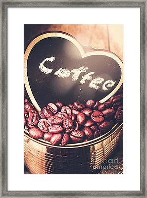 With Light And Coffee Love Framed Print