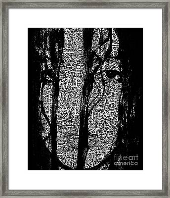 With Love.. - Black And White  Framed Print by Prar Kulasekara