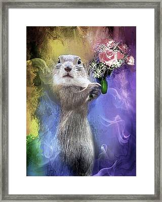 With Love From Me To You Framed Print by Georgiana Romanovna