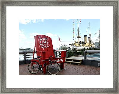 With Love From Philly Framed Print