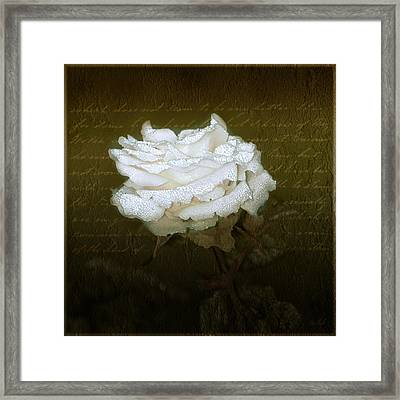 With Love Framed Print by Holly Kempe