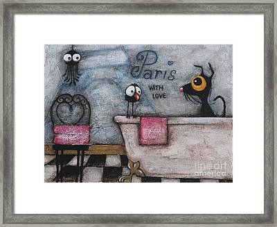 With Love Framed Print by Lucia Stewart
