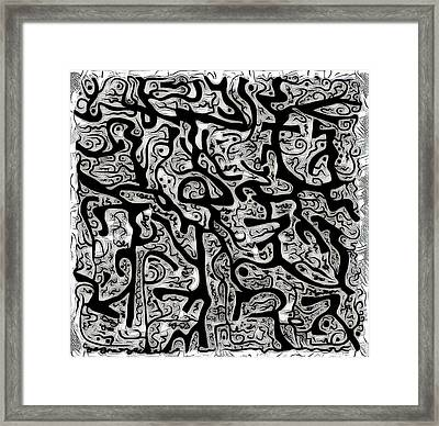 With No Line Breaks  Framed Print