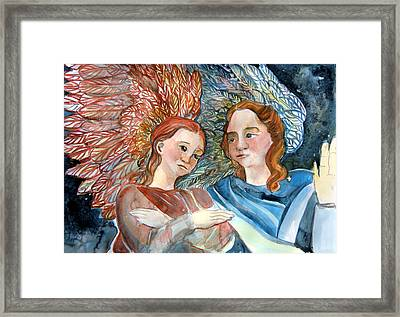 With Peace On Earth Framed Print by Mindy Newman