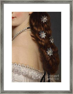 With Stars In Her Hair Closeup Crop Framed Print